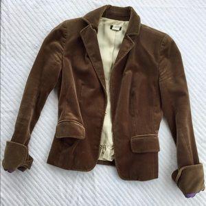 JCrew brown velvet blazer